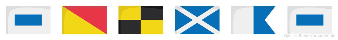 Solmas im Flaggenalphabet