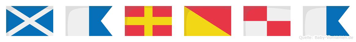 Maroua im Flaggenalphabet