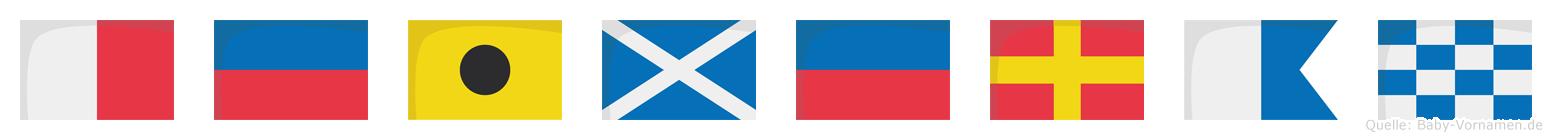 Heimeran im Flaggenalphabet