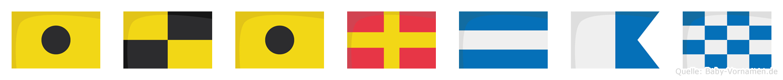 Ilirjan im Flaggenalphabet