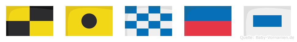 Lines im Flaggenalphabet