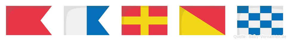 Baron im Flaggenalphabet