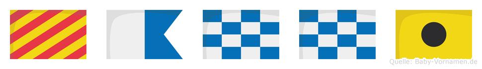 Yanni im Flaggenalphabet