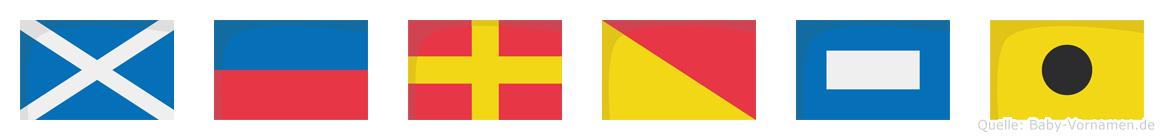 Meropi im Flaggenalphabet