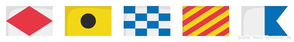 Finya im Flaggenalphabet