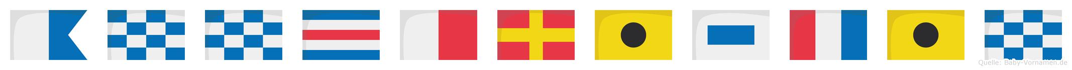 Annchristin im Flaggenalphabet