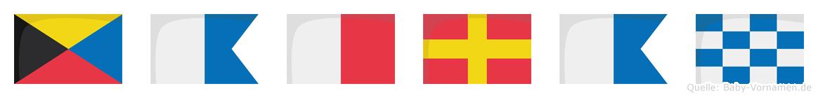 Zahran im Flaggenalphabet