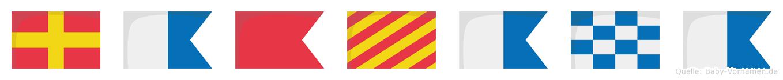 Rabyana im Flaggenalphabet