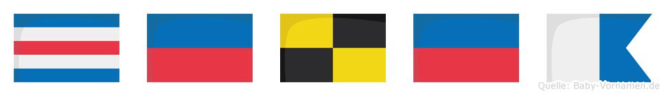 Celea im Flaggenalphabet
