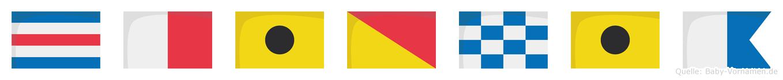 Chionia im Flaggenalphabet