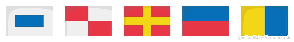 Surek im Flaggenalphabet