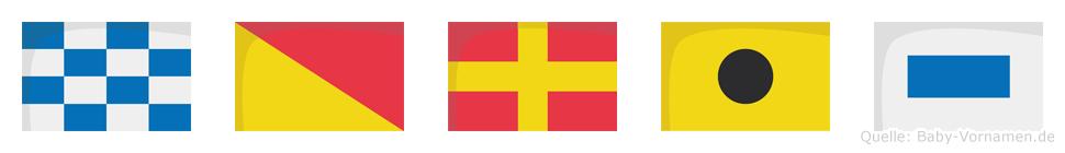 Noris im Flaggenalphabet