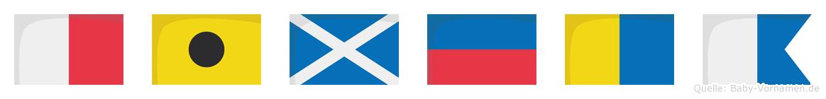 Himeka im Flaggenalphabet