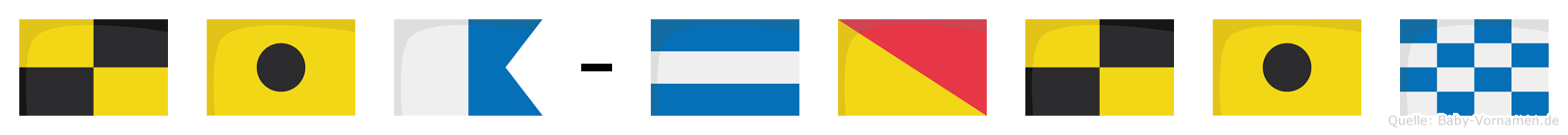 Lia-Jolin im Flaggenalphabet