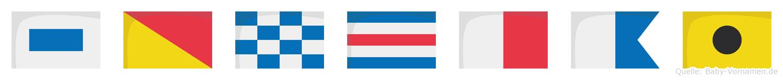 Sonchai im Flaggenalphabet
