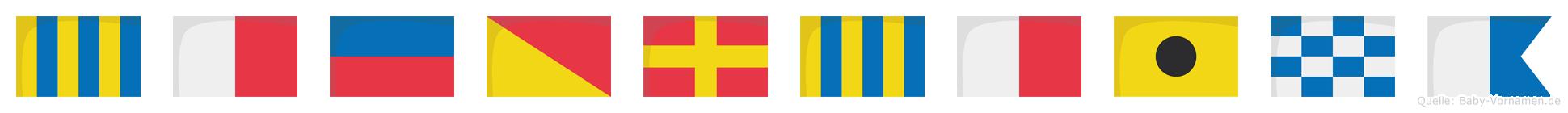 Gheorghina im Flaggenalphabet