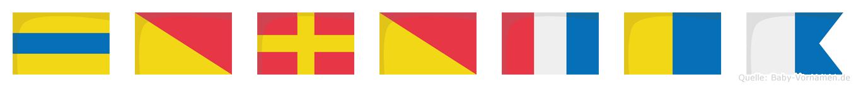 Dorotka im Flaggenalphabet