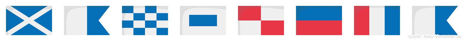 Mansueta im Flaggenalphabet