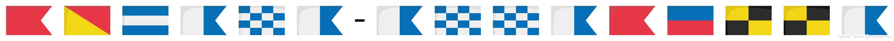 Bojana-Annabella im Flaggenalphabet