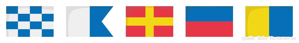 Narek im Flaggenalphabet