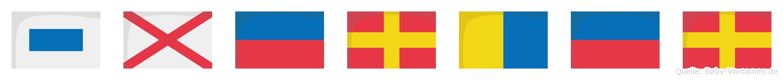 Sverker im Flaggenalphabet
