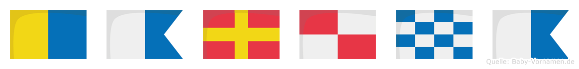 Karuna im Flaggenalphabet
