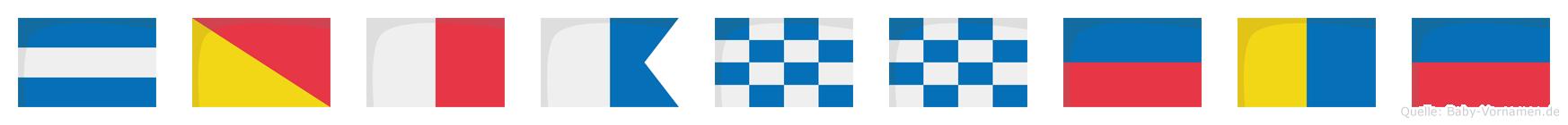 Johanneke im Flaggenalphabet