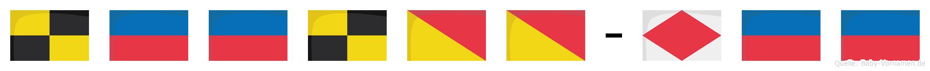 Leeloo-Fee im Flaggenalphabet