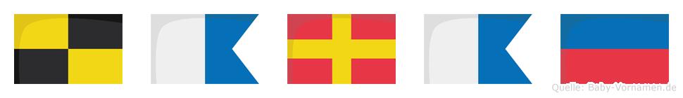Larae im Flaggenalphabet