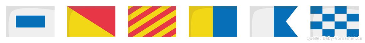 Soykan im Flaggenalphabet