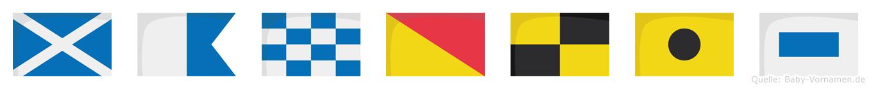 Manolis im Flaggenalphabet