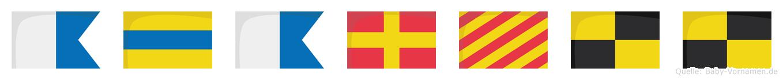 Adaryll im Flaggenalphabet