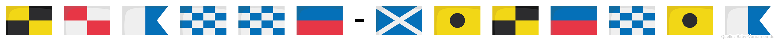 Luanne-Milenia im Flaggenalphabet