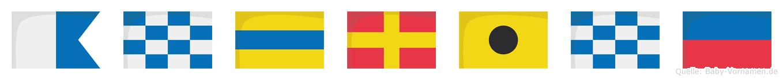 Andrine im Flaggenalphabet