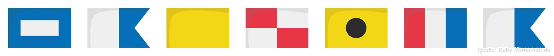 Paquita im Flaggenalphabet