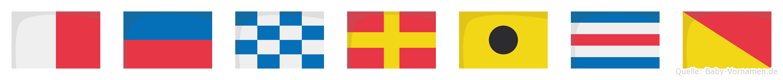 Henrico im Flaggenalphabet