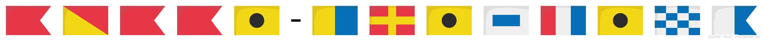 Bobbi-Kristina im Flaggenalphabet