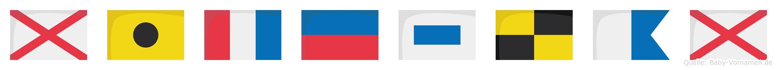 Viteslav im Flaggenalphabet