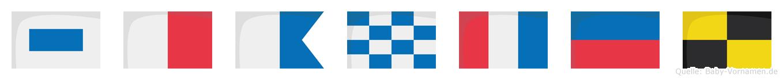 Shantel im Flaggenalphabet
