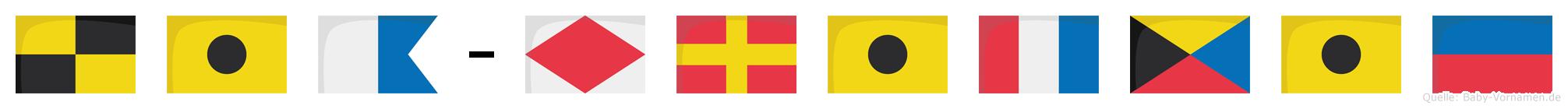 Lia-Fritzie im Flaggenalphabet