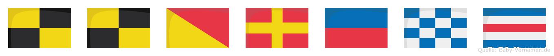 Llorenc im Flaggenalphabet