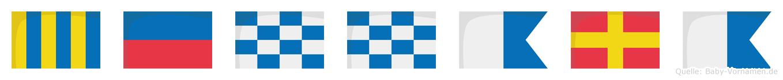 Gennara im Flaggenalphabet