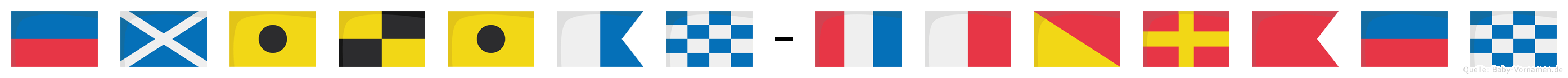 Emilian-Thorben im Flaggenalphabet