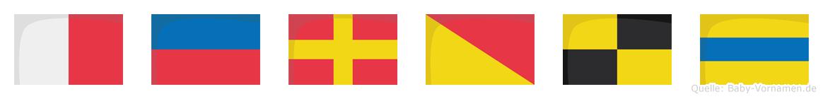 Herold im Flaggenalphabet