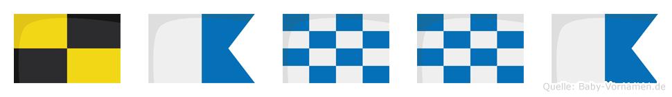 Lanna im Flaggenalphabet