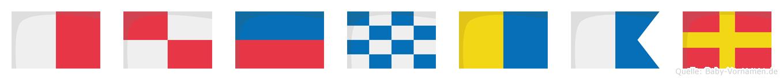 Hünkar im Flaggenalphabet
