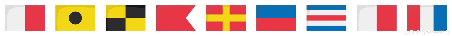 Hilbrecht im Flaggenalphabet