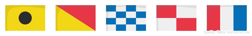 Ionut im Flaggenalphabet