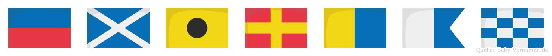 Emirkan im Flaggenalphabet