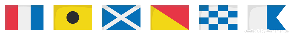 Timona im Flaggenalphabet